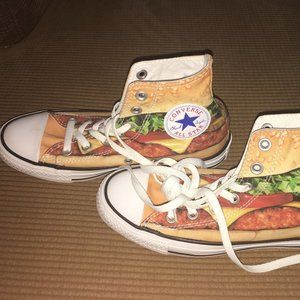 Converse Special Edition Burger Sneakers NWOT